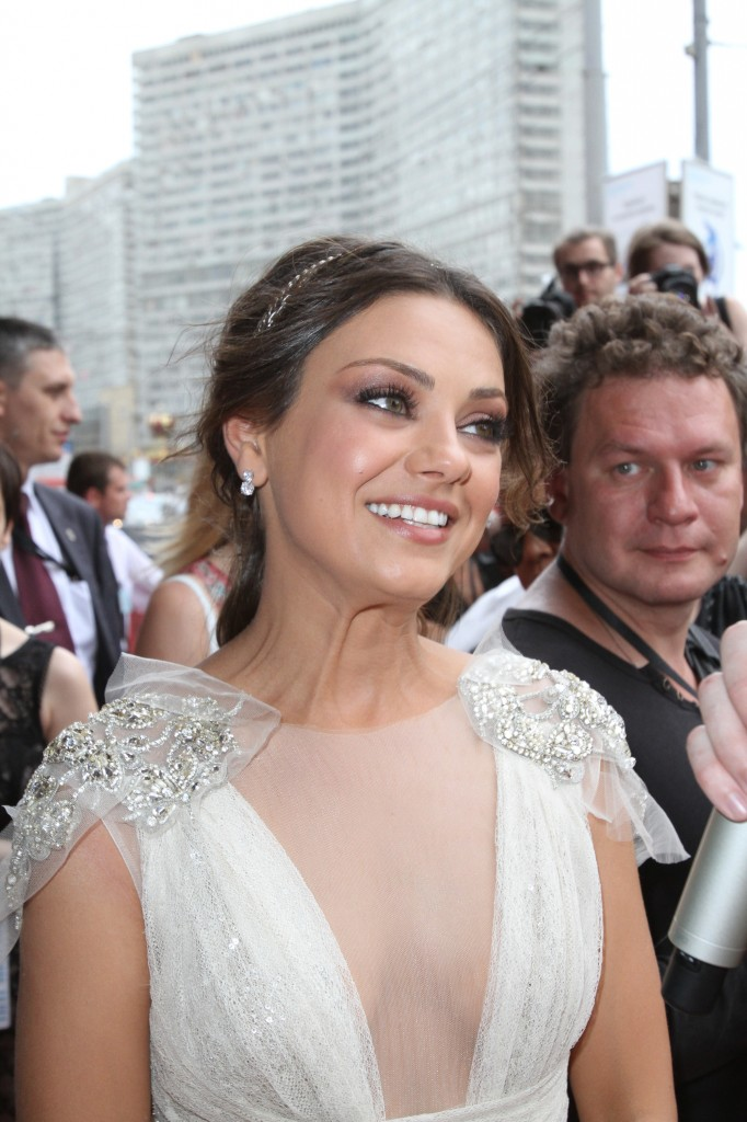 Mila Kunis at FRIENDS WITH BENEFITS Russia Premiere.
