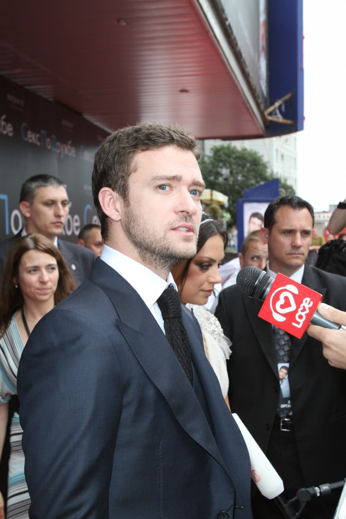 Justin Timberlake at FRIENDS WITH BENEFITS Russia Premiere.