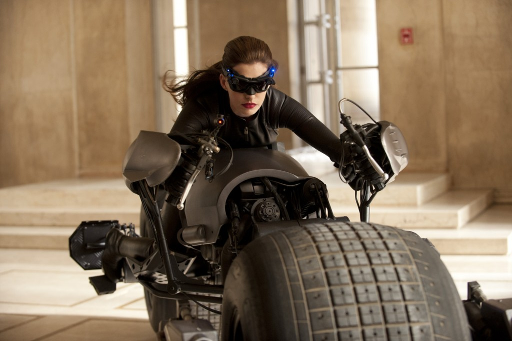 Anne Hathaway as Catwoman in Dark Knight Rises