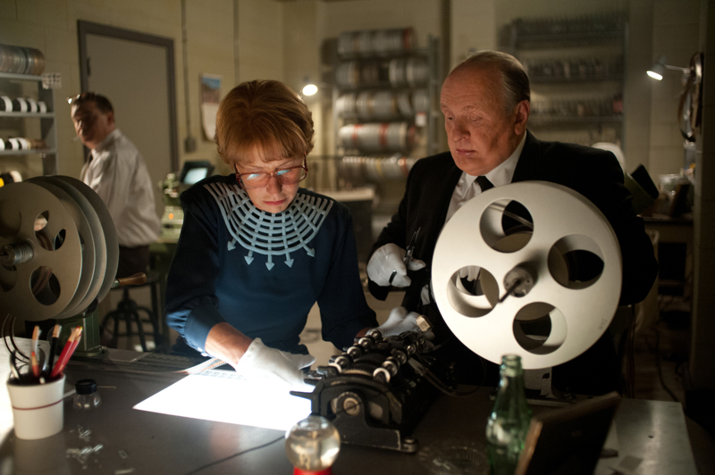 Helen Mirren as Alma Reville, Anthony Hopkins as Alfred Hitchcock in Hitchock