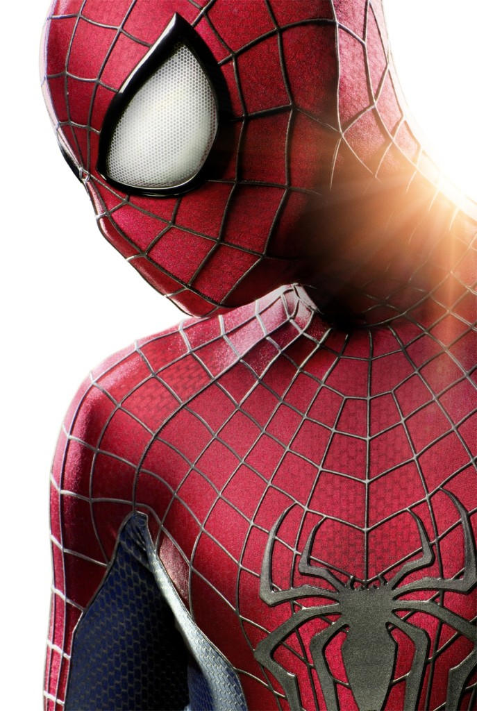 """Sneak Peek"" at Spider-Man's new look from the upcoming film ""The Amazing Spider-Man 2,"" set for release May 2, 2014. Photo by Jamie Biver."