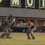 Hugh Jackman training with a robot in Real Steel