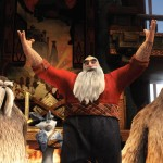 North (Alec Baldwin, center), along with Bunnymund (Hugh Jackman, rear center), Tooth (Isla Fisher, rear right) and two of his Yettis welcome Jack Frost (Chris Pine, not featured) in DreamWorks Animation´s RISE OF THE GUARDIANS to be released by Paramount Pictures.