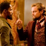 Jamie Foxx and Leonardo di Caprio in Django Unchained