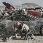 Diego Luna (left) and Matt Damon in TriStar Pictures' ELYSIUM.